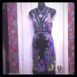 Silk pattern sundress size 12
